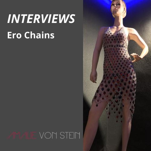 Anprobe exclusiver Ketten Mode und Kettenkleider aus Chainmaille von Ero Chains!