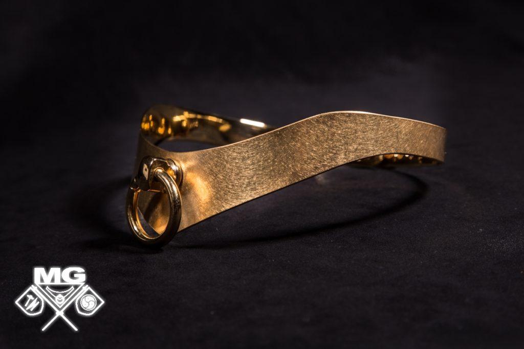 Neu Exklusives Edelstahl-Halsband! Edles BDSM-Halsband, Halsband mit Ring der O.