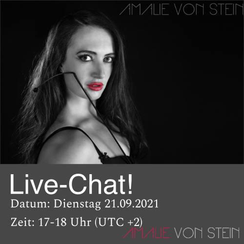 Nimm Teil am BDSM Live Chat mit Amalie von Stein im September 2021