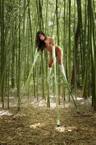Folienbondage und Shibari Künstler Lew Rubens Bamboo Doggy!