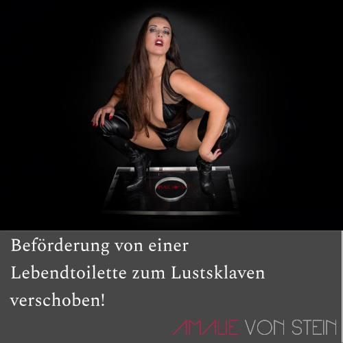 Sklave Nulls Beförderung von der Lebendtoilette zum Lustsklaven wurde von Amalie von Stein verschoben!