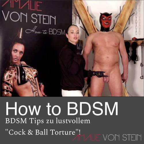 Amalie von Steins How to BDSM tips für ein lustvolles CBT (cock and ball torture) Erlebnis!