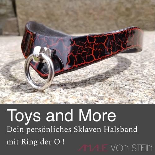 Toys and more, kaufe heute noch dein personalisiertes Sklaven Halsband von Amalie von Stein!